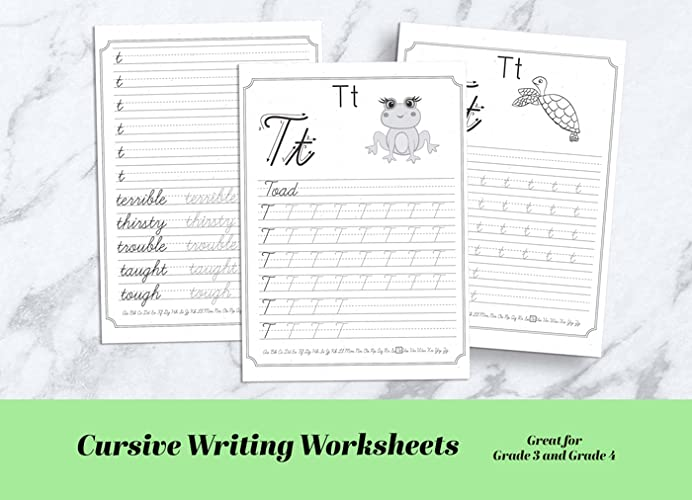Printable Cursive Writing Practice Worksheets Pdf. Lowercase And...