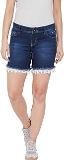 Jump USA Women Cloud Wash Casual Denim Shorts
