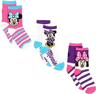 Disney Minnie Mouse Girls 3 pack Socks (Toddler/Little Kid/Big Kid)