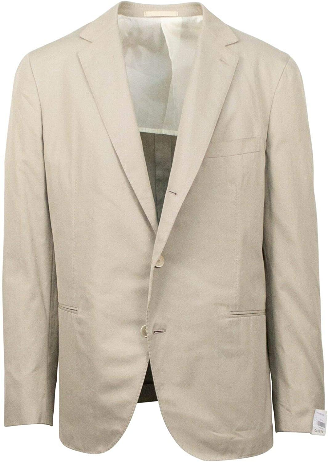 Caruso Men's Wool Blend 3 Roll 2 Button Classic Fit Suit 50/ R Drop 6 40 Gray