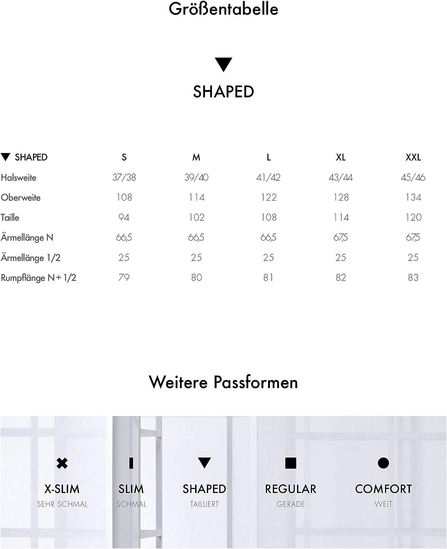 100/% Baumwolle B/ügelfreies tailliertes Hemd -Shaped Fit Seidensticker Herren Business Hemd Langarm Kent-Kragen