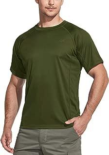CQR Men's UPF 50+ Short Sleeve Sun Protection UV Outdoor Hiking Top T-Shirt