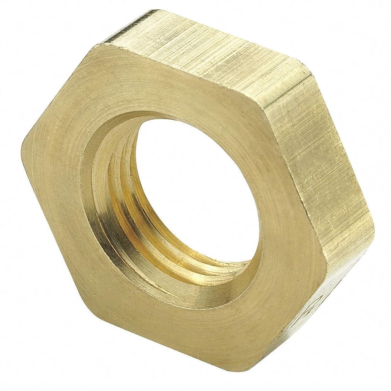 Parker Hannifin 210P-4 Brass Pipe Fitting Lock Nut, 1/4 NPSL Pipe Thread
