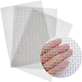 3 PCS Stainless Steel Wire Mesh Screen - About12 x 8.inch(30 X 21CM) - 4.5mm Hole #5 Mesh - Air Vent Mesh, Hard and Heat Resisting Screen Mesh, Window Screen Mesh