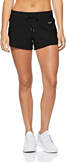 Calvin Klein Women's Curved Hem Shorts with Logo Tape