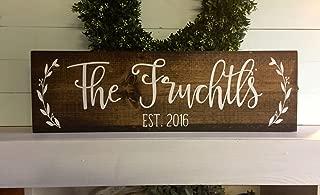 PotteLove Last Name Sign, Family Sign, Family Name Sign, Wedding Gift, Established Wood Sign, Rustic Name Sign, Wooden Sign, Rustic Family Sign