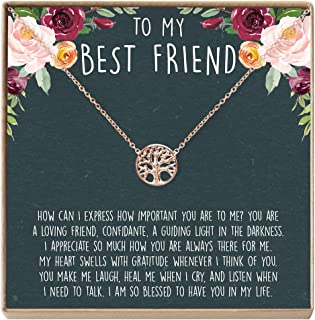 Best Friend Necklace – Heartfelt Card & Jewelry Gift for Birthday, Holiday, More