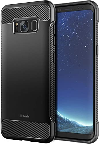 JETech Case for Galaxy S8, Protective Cover with Shock-Absorption and Carbon Fiber Design (Black)