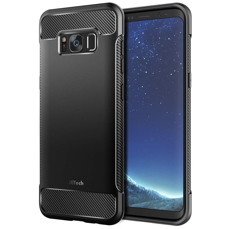 JETech Funda para Samsung Galaxy S8, Carcasa con Absorción de Impacto, Diseño de Fibra de Carbon, Negro: Amazon.es: Electrónica