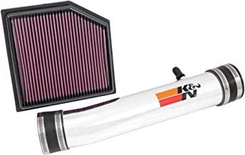 K&N Cold Air Intake Kit with Washable Air Filter: 2013-2019 Lexus (GS 350, IS 350, RC 350, IS 250) 2.5/3.5L V6, Polished Metal Finish with Red Oiled Filter, 69-8704TP