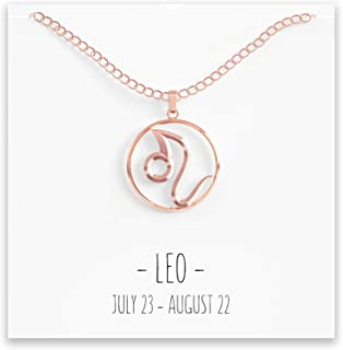 Happy Kisses Constellation Zodiac Necklace - Astrology Horoscope Pendant - All 12 in Silver or Gold with Message Card - Birthday