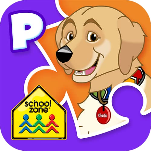 School Zone - Puzzle It Out Preschool - Ages 3-5, Numbers, Letters, Counting, Colors, Shapes, Reading & Math Readiness, and More