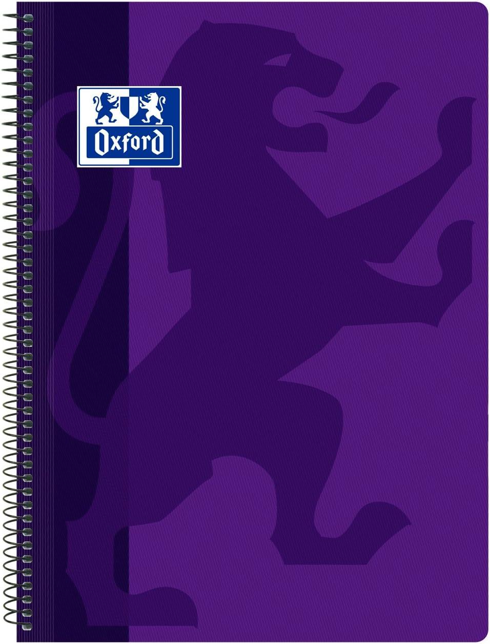 Oxford, Cuaderno A4 (Folio), cuadrícula 4x4, tapa plástico, color violeta