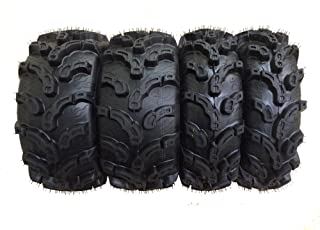 Set of 4 New Premium WANDA ATV/UTV Tires 25×8-12 Front & 25×10-12 Rear /6PR..