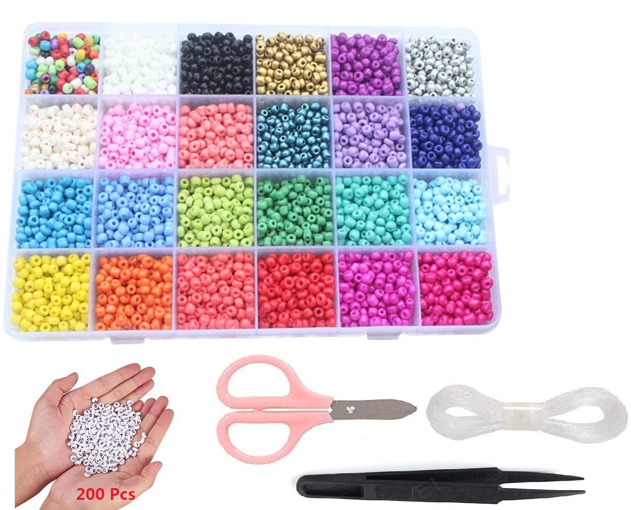 7200pcs Alphabet Bracelets Scissors Tweezers