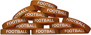 Novel Merk 12-Piece Kids Football Party Favor & School Carnival Prize Sports Silicone Wristband Bracelet