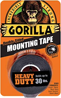 "Gorilla Double-Sided Heavy Duty Mounting Tape 1""X60""-Black"