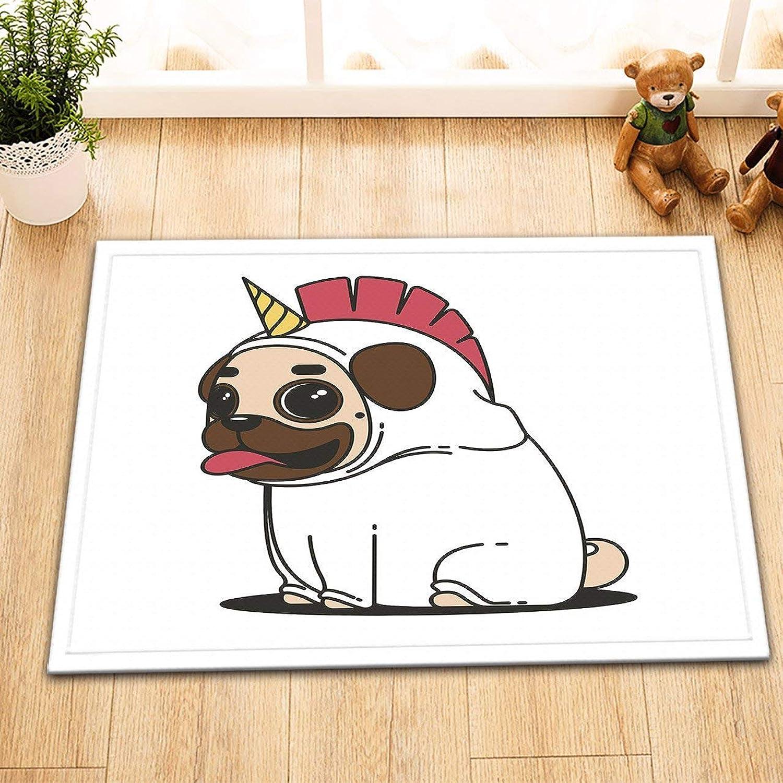 FORTR Home Hand gezeichneter Welpenhund mit EiscremeBad mat60 L × 40 W cm (Farbe   Multi-34, Größe   16  24 inch) B07PQGWVFF