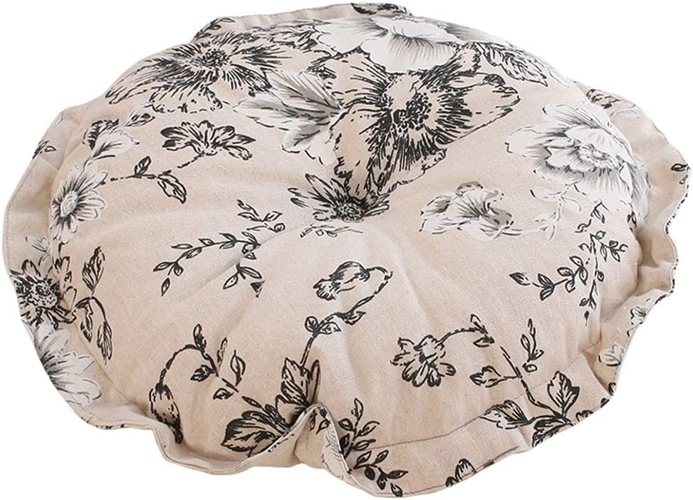 vctops Boho Soft Round Floor Ranking TOP7 100% quality warranty Pillow Cotton Ruffles Cushion with