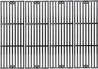 Hisencn Porcelain Coated Cast Iron Cooking Grates Replacement for Chargriller Duo 5050, 2121, 2123, 2222, 2828, 3001, 3030, 3725, 4000, 5050, 5252, 5650 Gas Grill Models Set of 4 Grill Grids