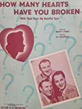 How Many Hearts Have You Broken (With Those Great Big Beautiful Eyes) - by Marty Symes & Al Kaufman - The Three Suns - Rare!