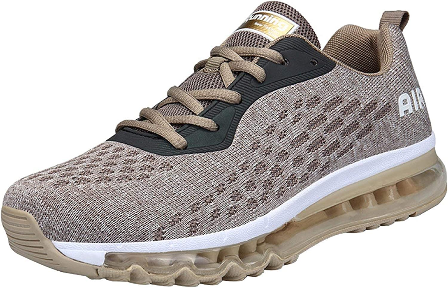 Unisex Breathable Running shoes Outdoor Leisure Sport shoes Fitness Air Cushion shoes Abrasion Resistant Shock Absorption (color   gold, Size   42EU)