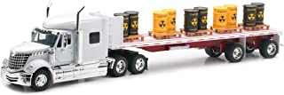 Newray International Lonestar Flatbed with Radioactive Waste Barrels 1/32 Scale Model Toy Truck