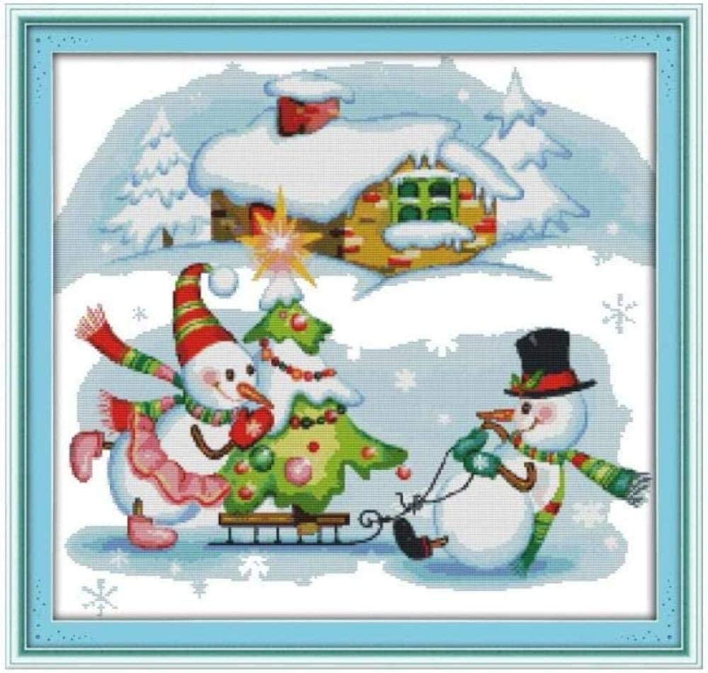 YHX926 Cross Stitch Kits for Beginner Christmas Cheap Adults Popular brand in the world Snowman S