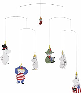 fbbddb000 Moomin Hanging Nursery Mobile - 23 Inches - Handmade in Denmark by Flensted