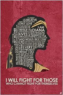 I Will Fight Word Art Print Poster (12