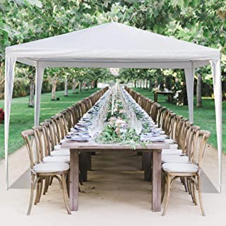 MTFY 10'x20'ft Outdoor Party Wedding Canopy Tent, Portable White Gazebo Tent for Outdoor Event Waterproof, UV Protection Beach Sun Shelter, Removable Sidewalls, Upgraded Spiral Tube