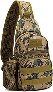 Tactical Sling Chest Pack Bag Molle Daypack Backpack iPad Mini Military Shoulder Bag Crossbody Duty Gear