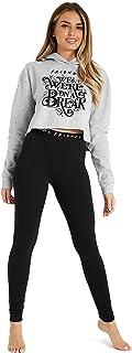 Sudadera Mujer Corta y Leggins, Chandal Mujer de Algodon, Ropa Deportiva Mujer, Merchandising Oficial Regalos Mujer y Adolescente Talla S-XL