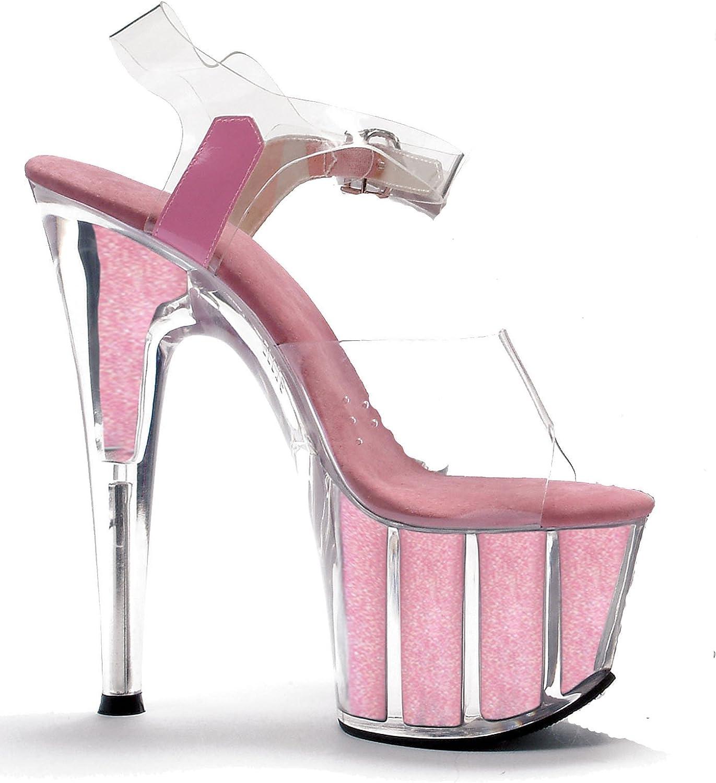 Ellie 7 Point Stiletto Sandal W  Glitter Glitter Glitter i Platform.  det bästa urvalet av