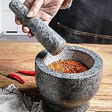 Solid Stone Food Preparation Unpolished Granite Spice Herb Grinder Kitchen Tools
