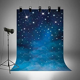 Hintergrund für Universum, Themenpartys, Bilder, Kindergeburtstag, kosmisches Reisethema, Fotoautomaten Hintergrund, Heimdekoration, waschbar, Baumwolle, Polyester, Tapete blau, FD6549
