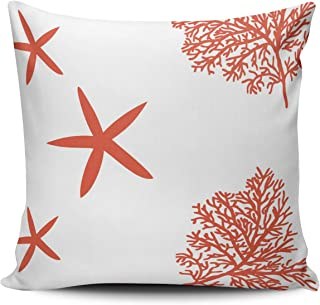 XIUBA Throw Pillow Covers Case Coral Reef and Starfish Decorative Pillowcase Cushion Cover 26X26 inch European Size Double Sided Design Printed