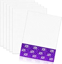 YG_Oline 6 Pieces 7 Count Mesh Plastic Canvas Sheets Needlepoint Canvas for Embroidery, Acrylic Painting, Cross Stitching