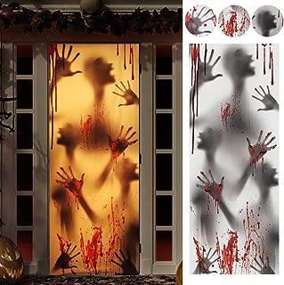 Halloween Decorations for Door House, Halloween Window Door Cover, Bloody Window Cover for Haunted House and Indoor or Outdoor Decorations(78 X 30 inches)