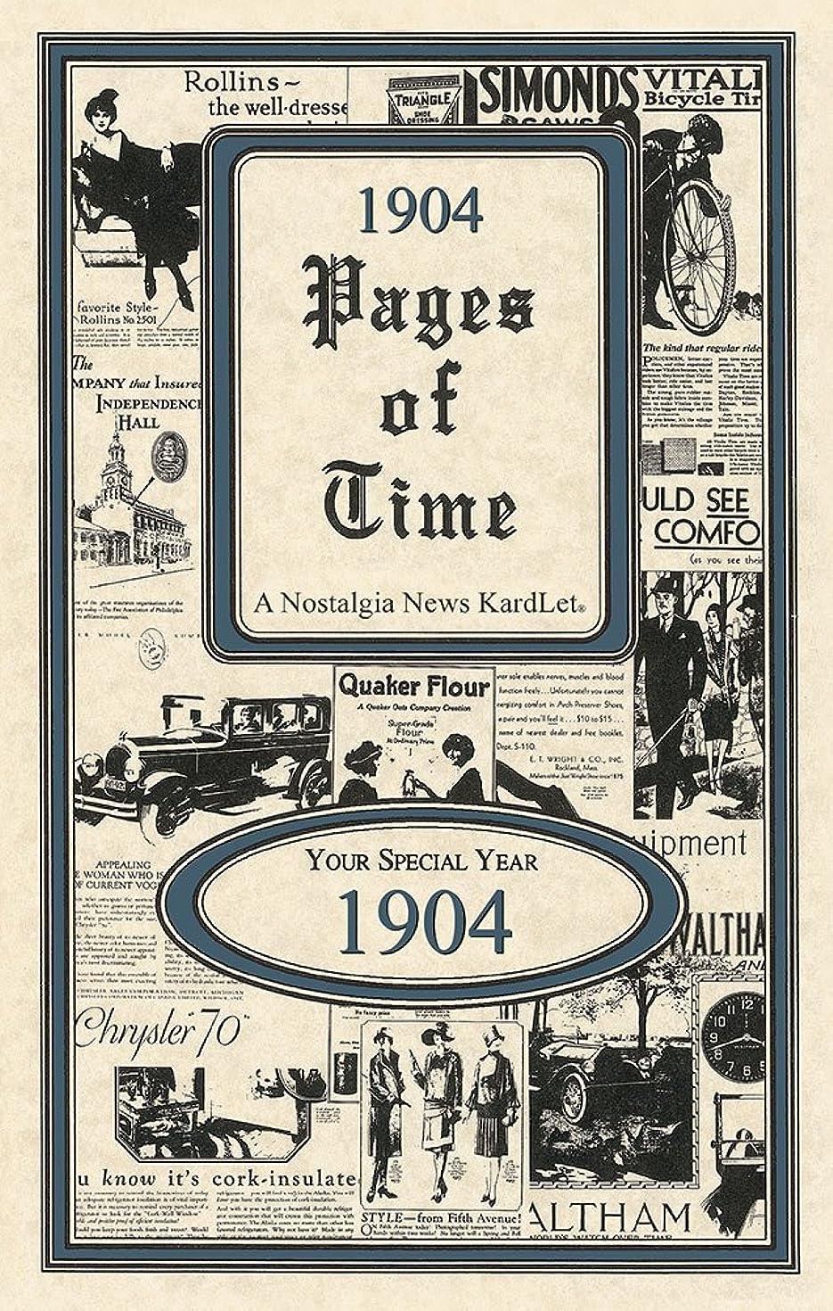 1904 Pages of Time Kardlet (PT1904)