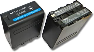 vhbw 2X batería Li-Ion 10400mAh (7.4V) para cámara de vídeo videocámara Sony Hi8 CCD-TR1 CCD-TR200 CCD-TR215 CCD-TR3 CCD-TR300 como Sony NP-F990.