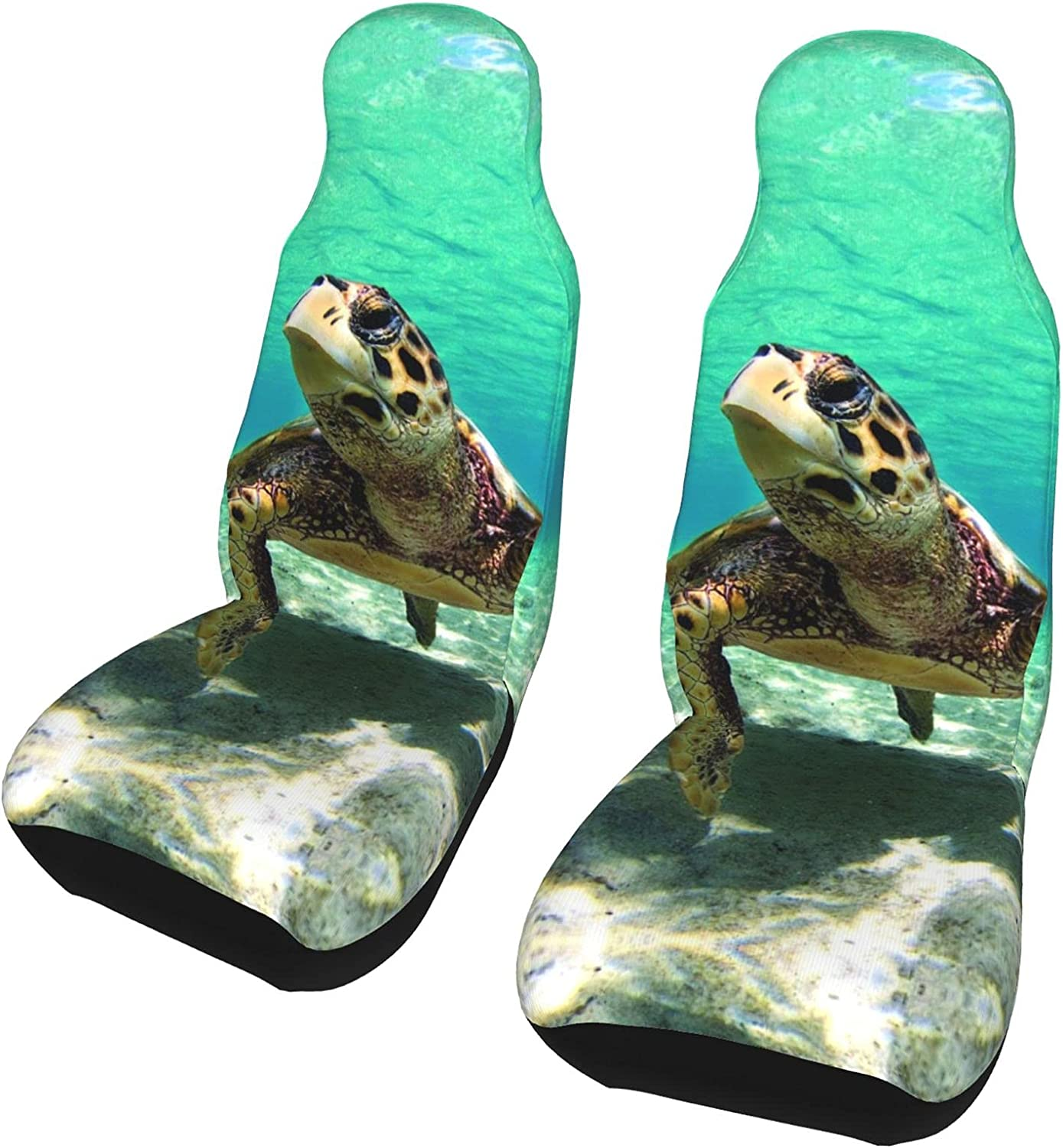 JOEKAORY Seaturtle in Shallow Sea Print seat Save money 2 Department store Car Cus pc Covers