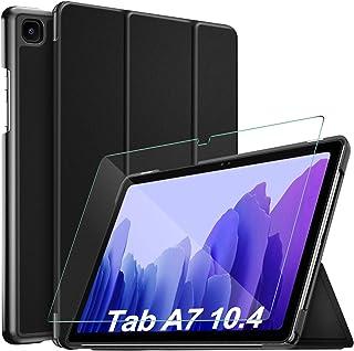 [1+1 عبوة] IVSO لجهاز Samsung Galaxy Tab A7 (SM-T500/T505/T507) جراب واقي شاشة 4 بوصات 2020، زجاج صلب مقاوم للكسر 9H، جراب...