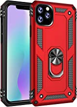 Umhlaba 11Max Case 2019 Compatible with Apple iPhone 11 Pro Max Cover Ring Holder Xphone Hybrid 11pro Mas Skin Dual Layer IP 11max Shockproof Protective Bumper 6.5 Inch (Red)