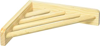 Prevue Pet Products 3300 Wood Corner Shelf Laddered Platform for Bird Cages,  7 by 7-Inch