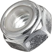 Carbon Steel Lock Nut, Zinc Plated Finish, Right Hand Threads, Self-Locking/Nylon Insert, Meets DIN 985, M8-1.25 Threads (Pack of 100)