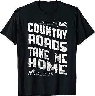 Horse Shirt Country Roads Take Me Home Country Music SDA