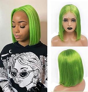 BESFOR Bob Human Hair Lace Wigs Brazilian Virgin Hair 13x4 Frontal Wigs Glueless Short Bob Wigs for Black Women Natural St...