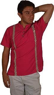 Guayabera Veracruzano, manta de algodón, camisa manga corta casual, cuello mao