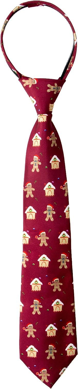 Spring Notion Boy's Printed Christmas Theme Pretied Zipper Tie